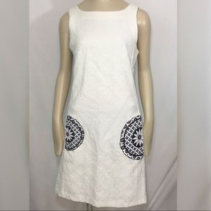 Desigual Christian Lacriox textured shift dress 38